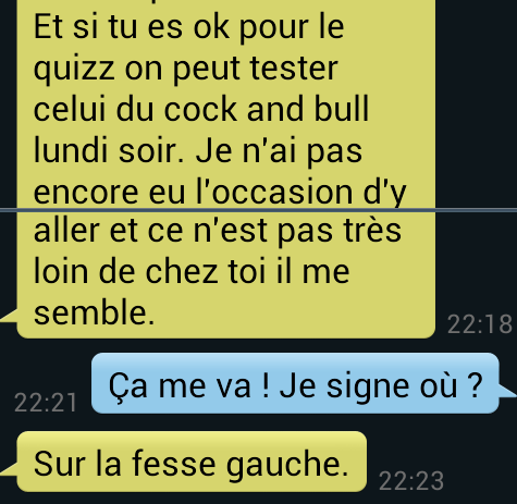 Discussion pour draguer une fille
