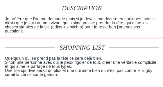 Exemple description site de rencontre