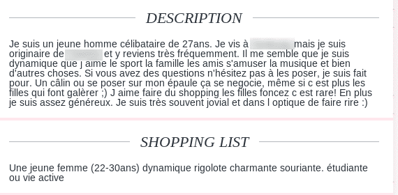 Description site de rencontre originale