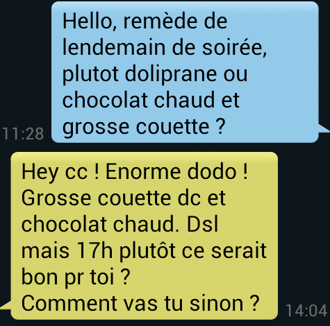 exemple drague sms