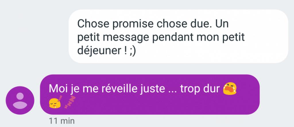 Quel premier sms après Tinder