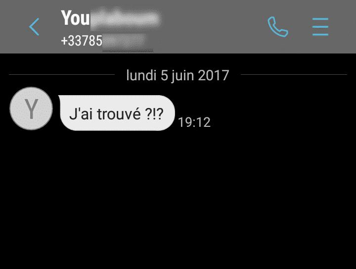 premier message après adopteunmec