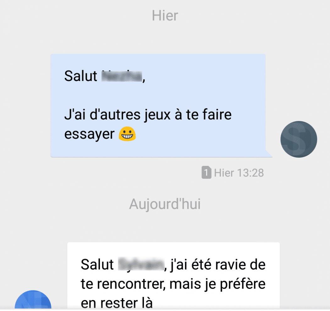 exemple mauvais sms