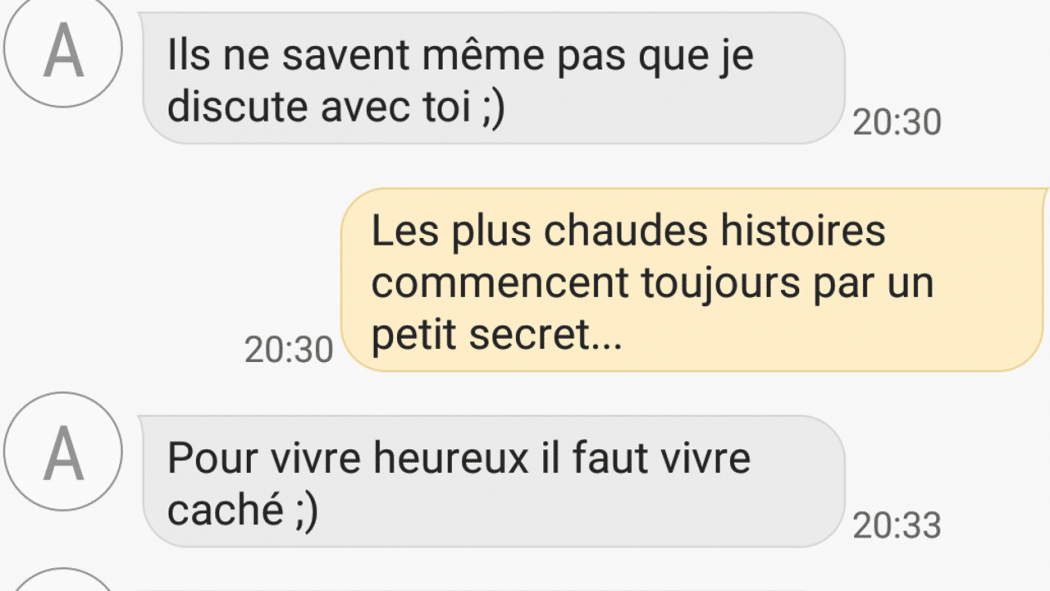 exemple conversation drague sms