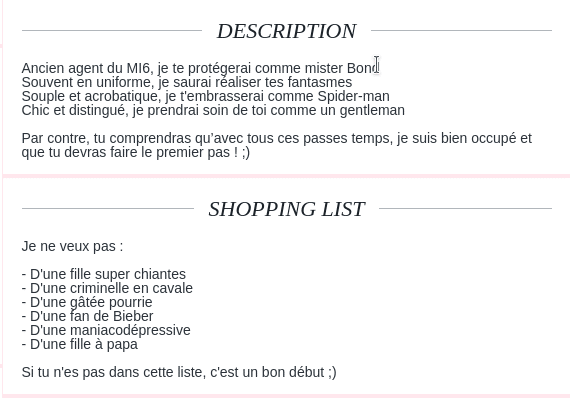 exemple shopping list
