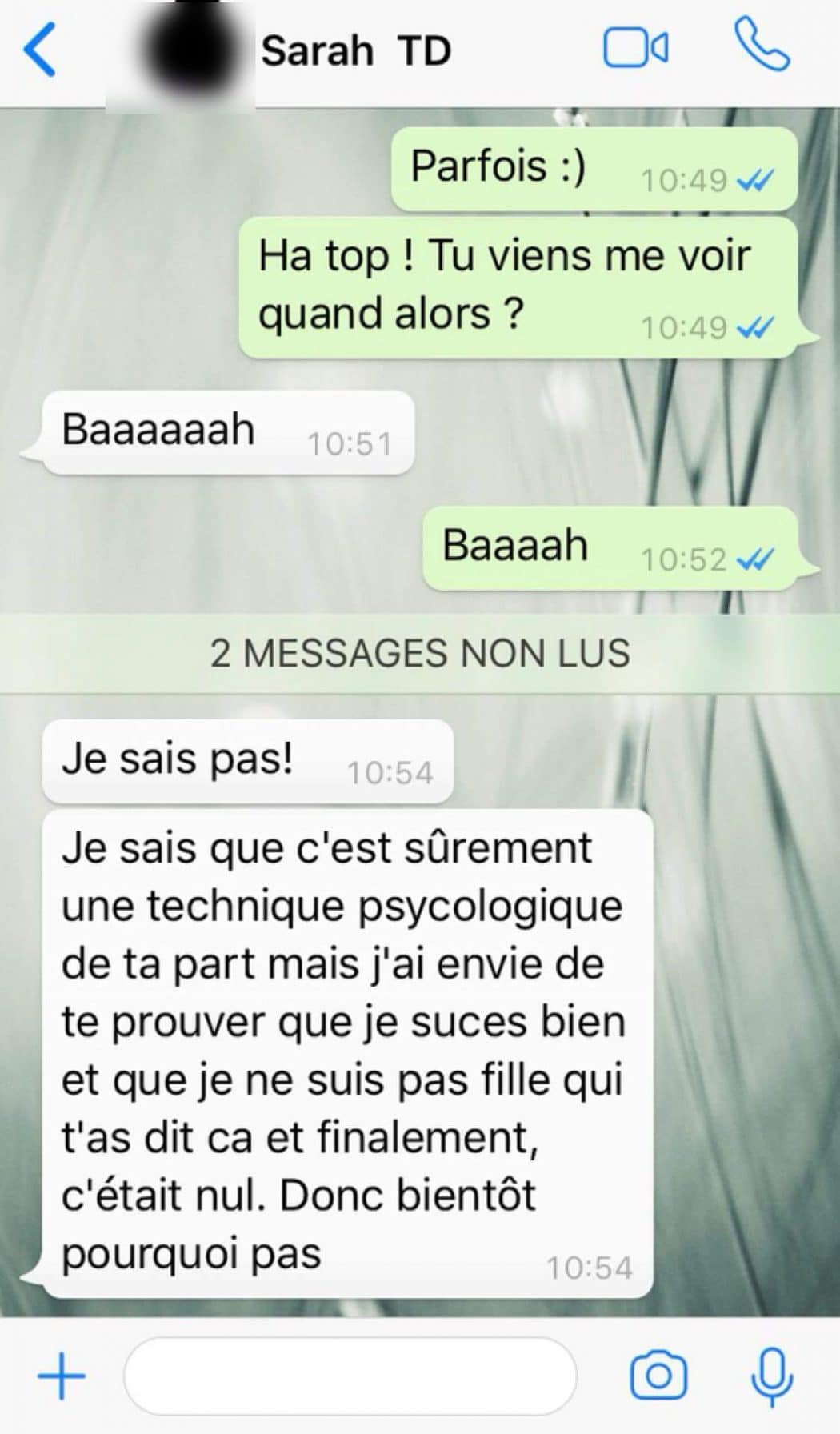 exemple conversation sms
