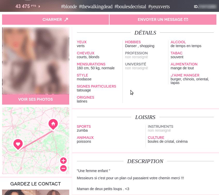Exemple profil femme adopteunmec