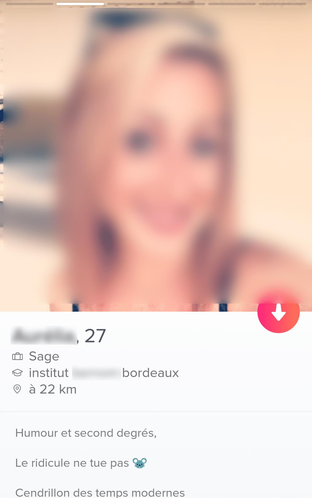 profil tinder de femme