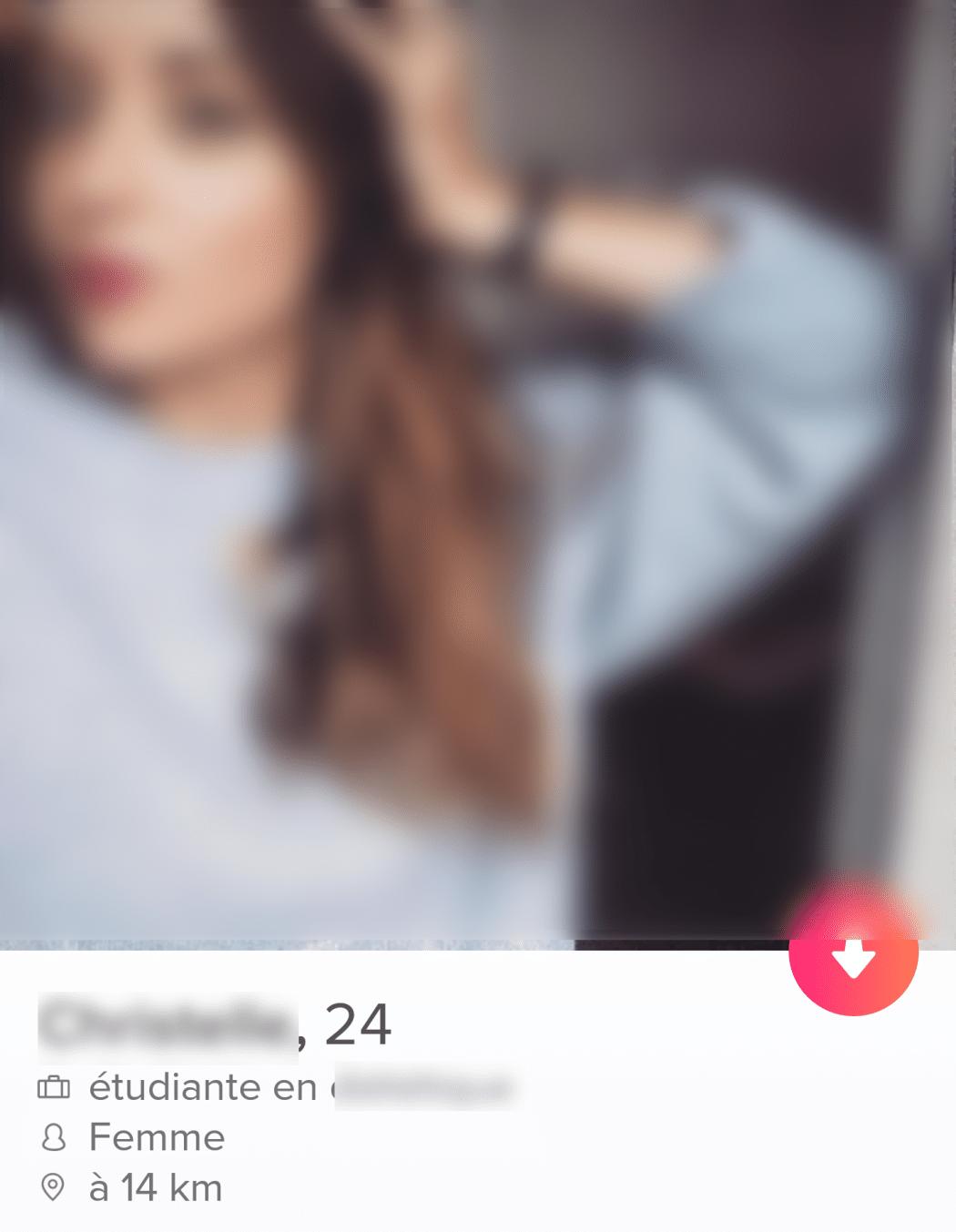 réagir sur le profil tinder d'une fille