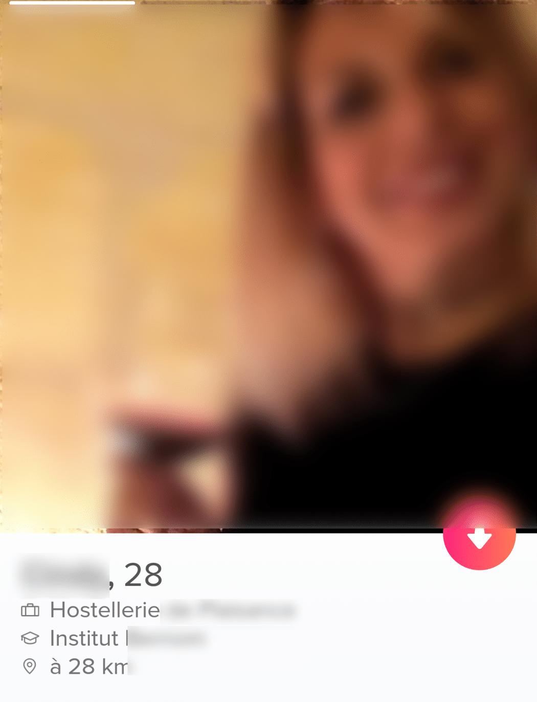 le profil d'une femme sur tinder