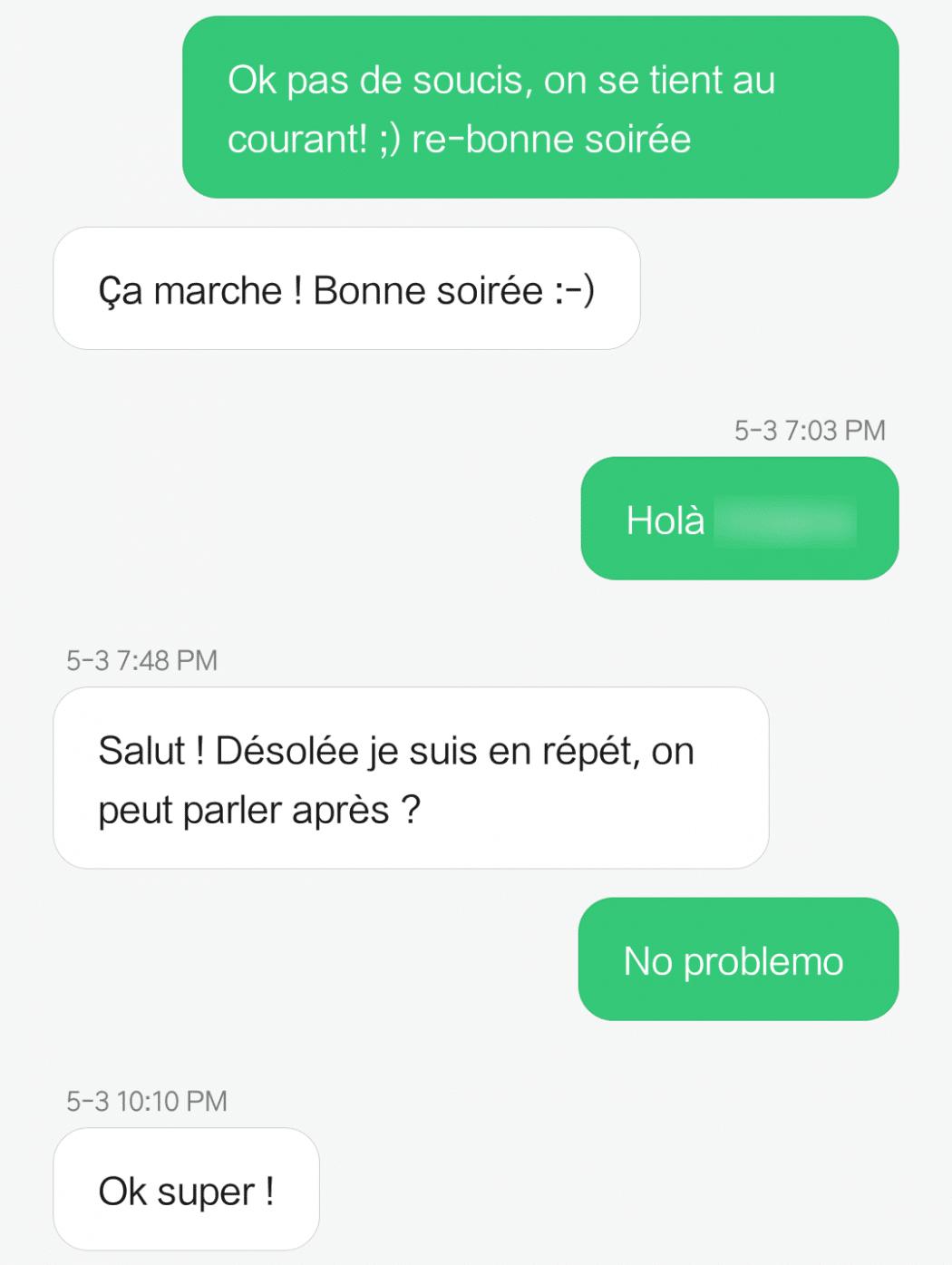 mauvais comportement par sms