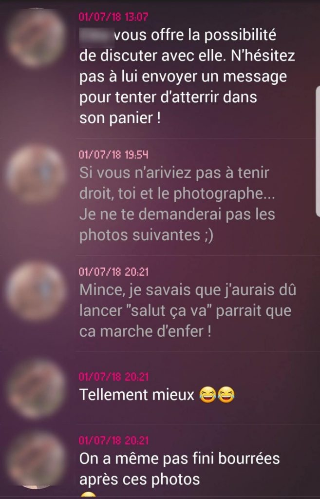 exemple de drague sur Adopteunmec