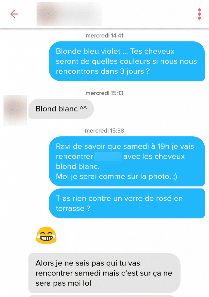premier message tinder exemple