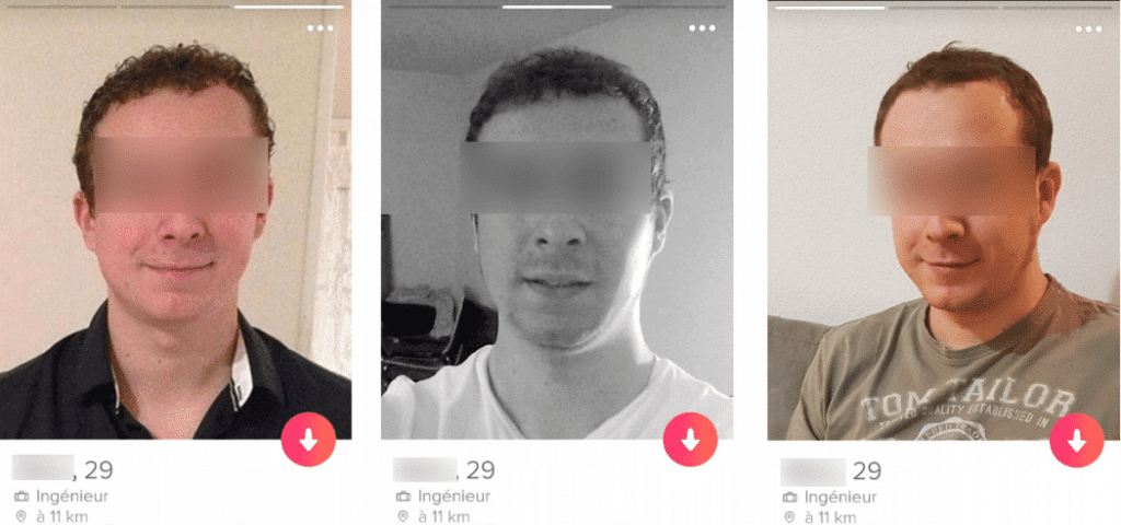 photo tinder trop similaire