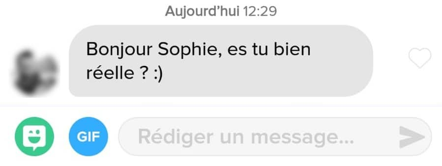 exemple mauvaise message Tinder