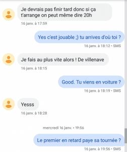 exemple sms envoyés à une fille