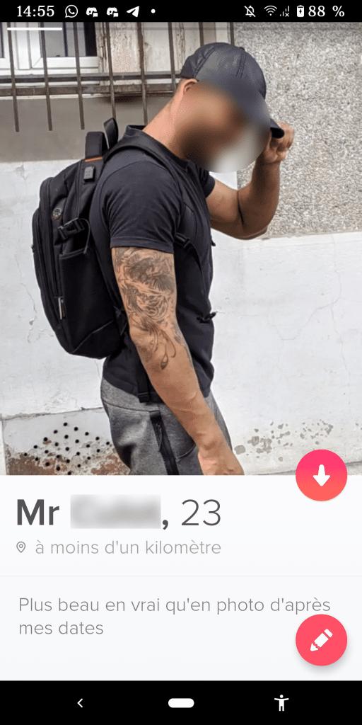 exemple de bon profil Tinder