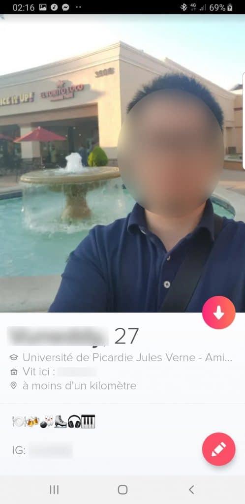 exemple de profil Tinder