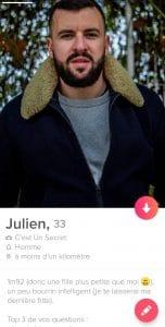 Mon profil Tinder
